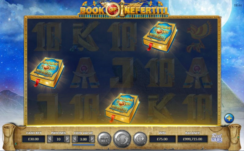 Book of Nefertiti :: Scatter symbols triggers the free spins feature