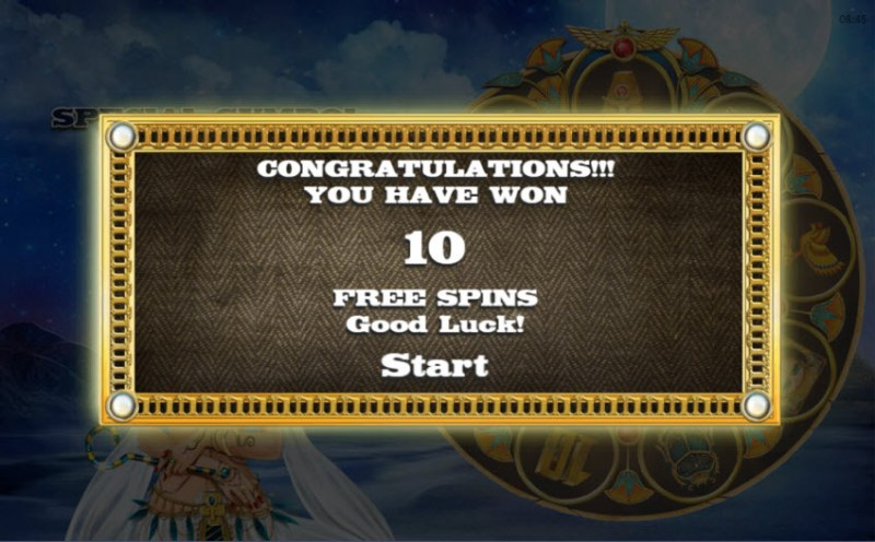 Book of Nefertiti :: 10 Free Spins Awarded