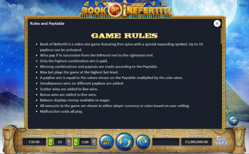 Book of Nefertiti :: General Game Rules