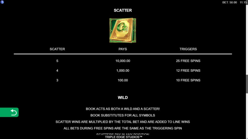 Book of Oz Lock 'N Spin :: Scatter Symbol Rules
