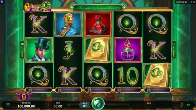 Book of Oz Lock 'N Spin :: Main Game Board