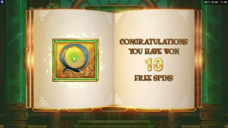 Book of Oz :: 10 Free Spins Awarded