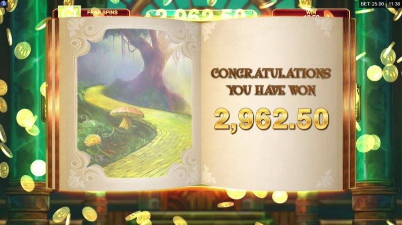 Book of Oz :: Total free spins payout