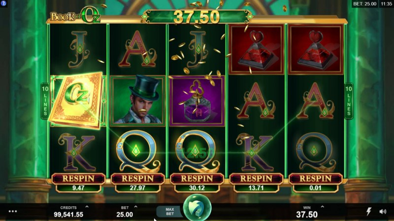 Play slots at House of Jack: House of Jack featuring the Video Slots Book of Oz with a maximum payout of $125,000