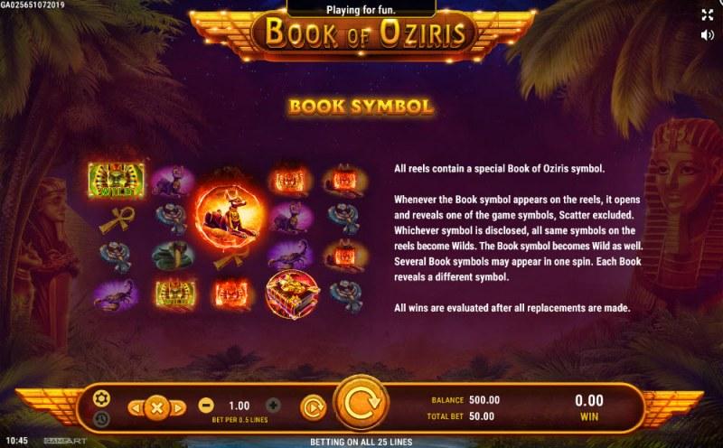 Book of Oziris :: Wild Symbols Rules