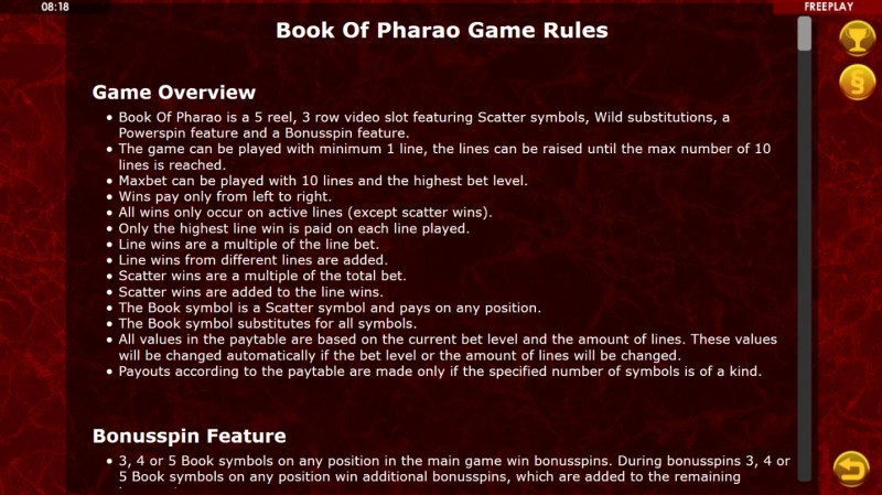Book of Pharao :: General Game Rules