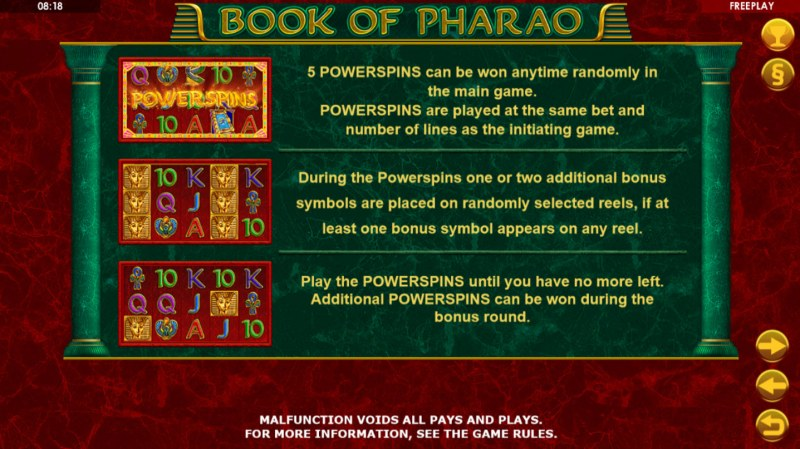 Book of Pharao :: Feature Rules