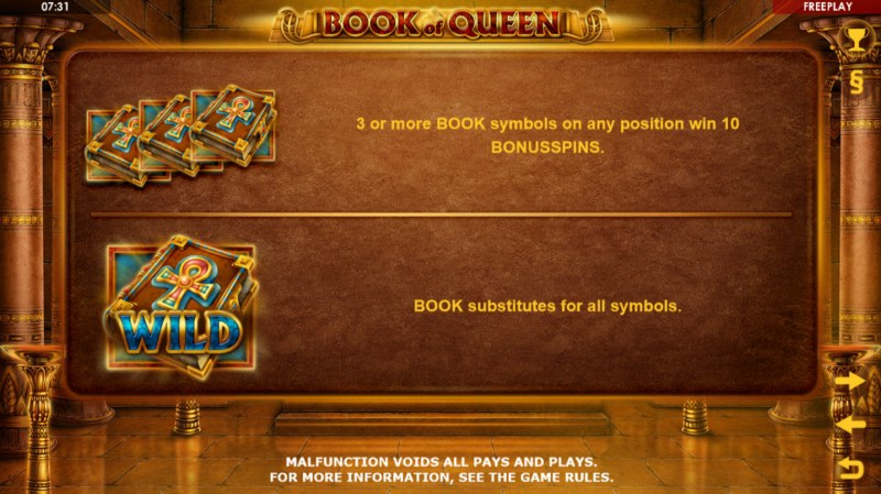 Book of Queen :: Wild Symbols Rules
