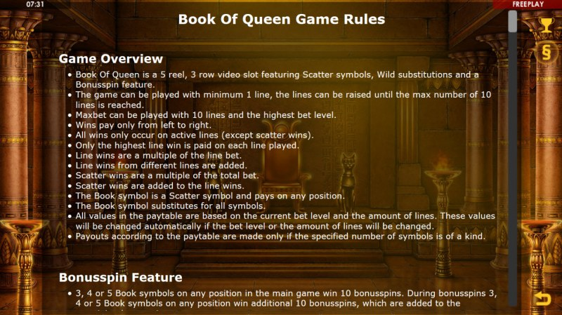 Book of Queen :: General Game Rules
