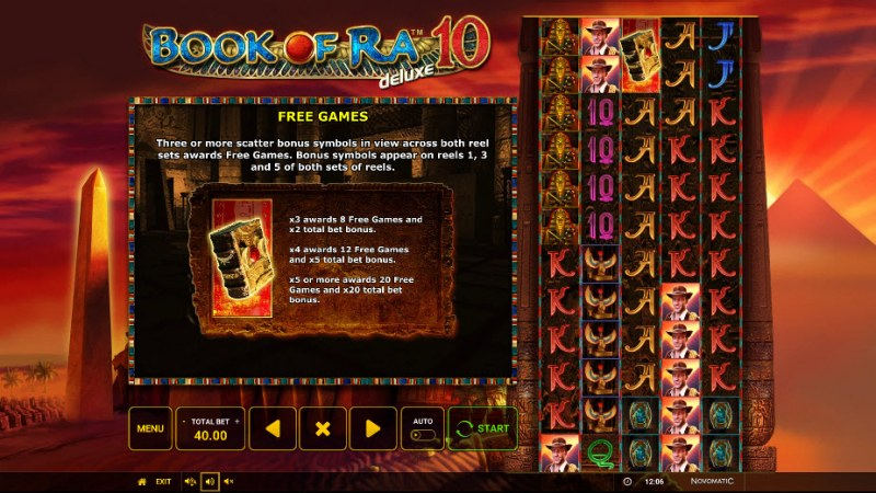 Book of Ra Deluxe 10 :: Free Spins Rules