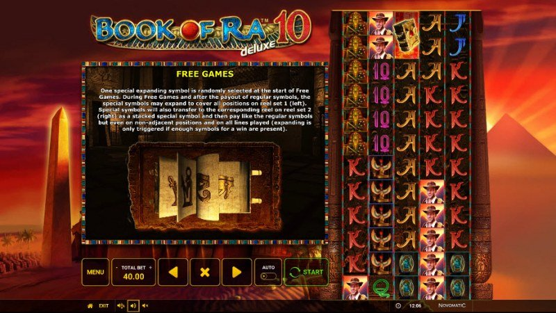 Book of Ra Deluxe 10 :: Special Expanding Symbol