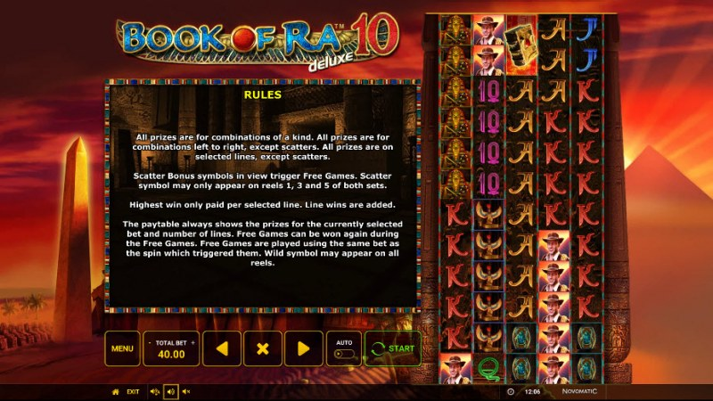 Book of Ra Deluxe 10 :: General Game Rules