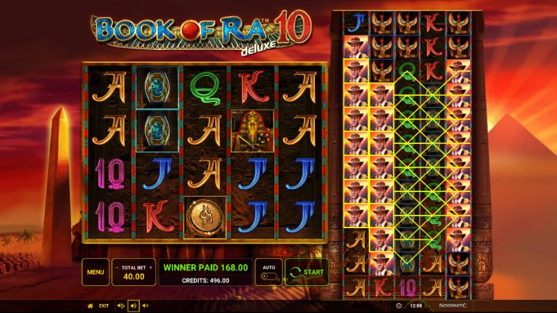 Book of Ra Deluxe 10 :: Multiple winning paylines