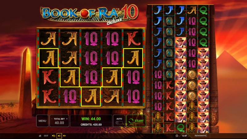 Book of Ra Deluxe 10 :: A five of a kind win