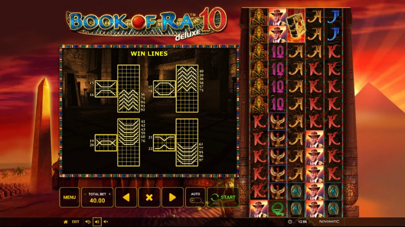 Book of Ra Deluxe 10 :: Paylines