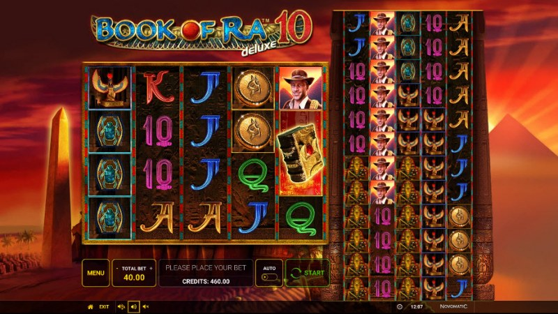 Book of Ra Deluxe 10 :: Main Game Board