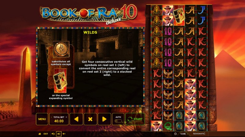 Book of Ra Deluxe 10 :: Wild and Scatter Rules