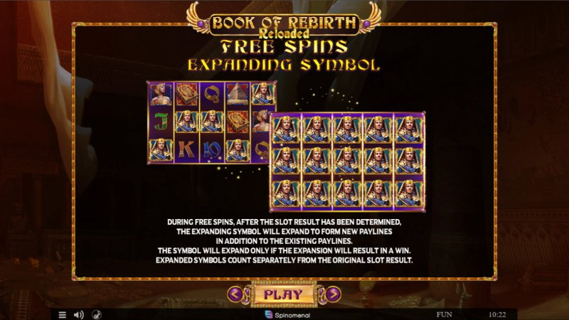 Book of Rebirth Reloaded :: Free Spin Feature Rules