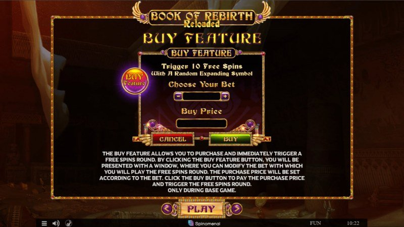 Book of Rebirth Reloaded :: Buy Feature