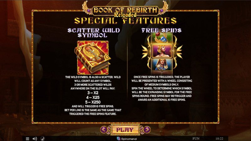 Book of Rebirth Reloaded :: Wild and Scatter Rules
