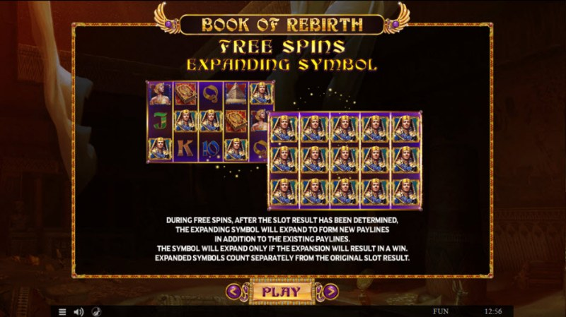 Book of Rebirth :: Free Spins Rules