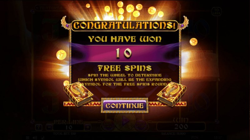 Book of Rebirth :: 10 Free Spins Awarded
