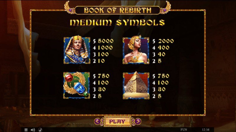 Book of Rebirth :: Paytable - High Value Symbols