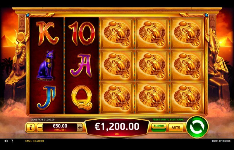 Book of Riches :: Multiple winning combinations leads to a big win