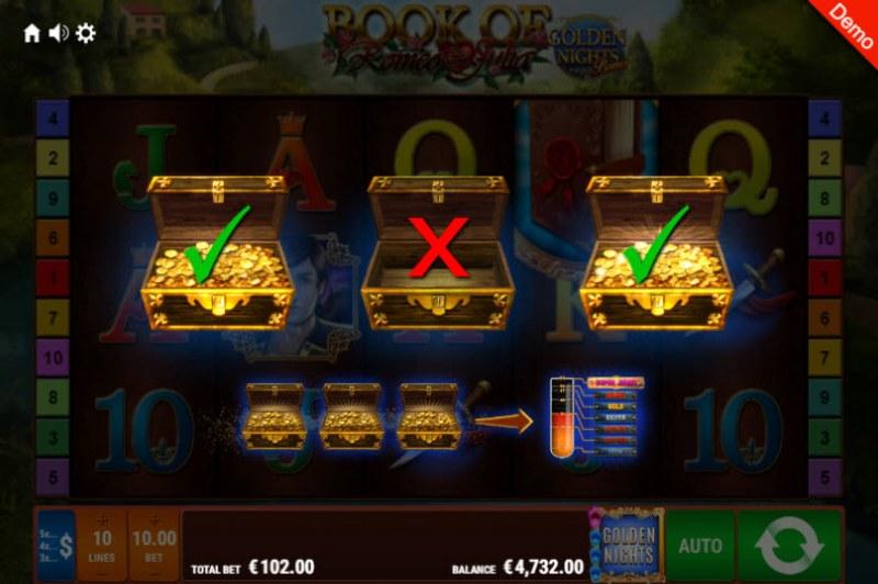 Book of Romeo & Julia Golden Nights Bonus :: Golden Night Bonus randomly activates during any spin