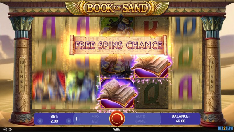 Book of Sand :: Free Spins Chance triggered