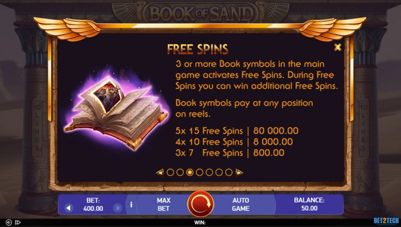 Book of Sand :: Free Spin Feature Rules