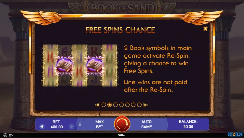 Book of Sand :: Free Spins Chance