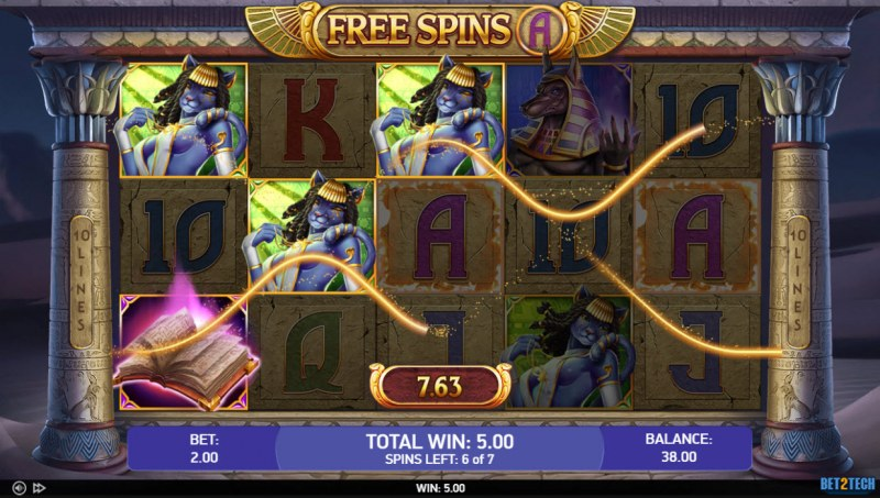 Book of Sand :: Free Spins Game Board