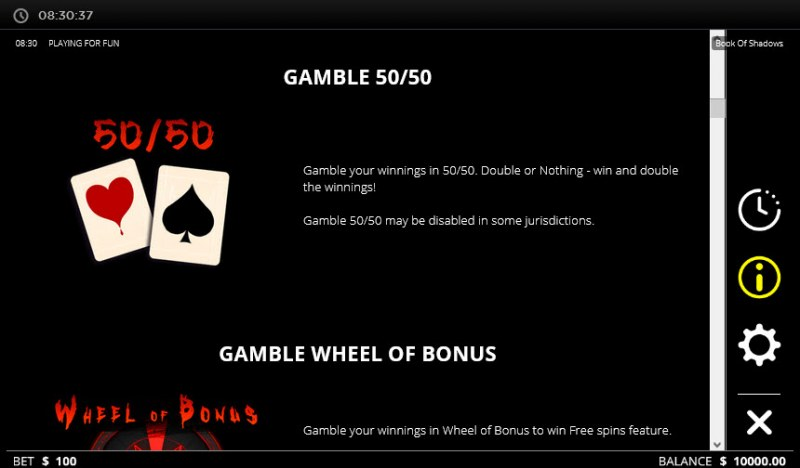 Book of Shadows :: Gamble Feature Rules