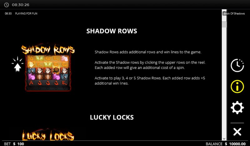 Book of Shadows :: Feature Rules