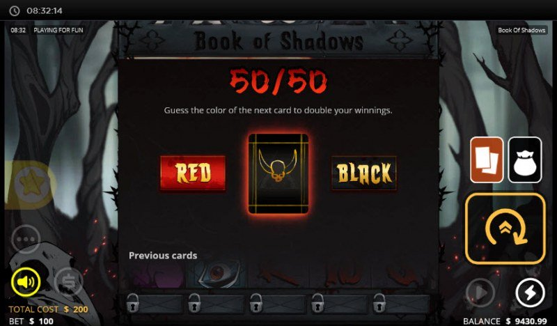 Book of Shadows :: Gamble Feature Game Board