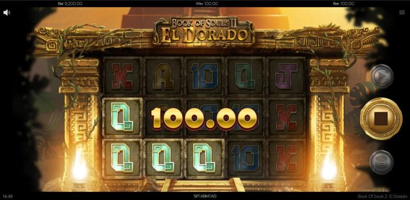 Book of Souls II El Dorado :: A three of a kind win