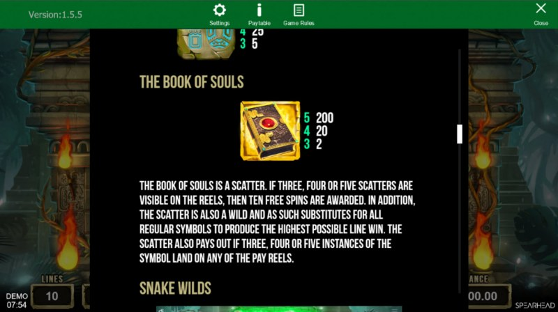 Book of Souls :: Wild and Scatter Rules