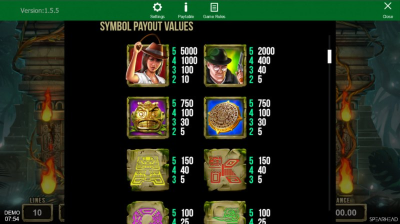 Book of Souls :: Paytable - High Value Symbols