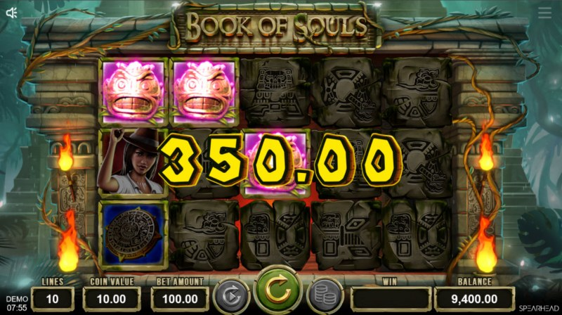 Book of Souls :: A three of a kind win