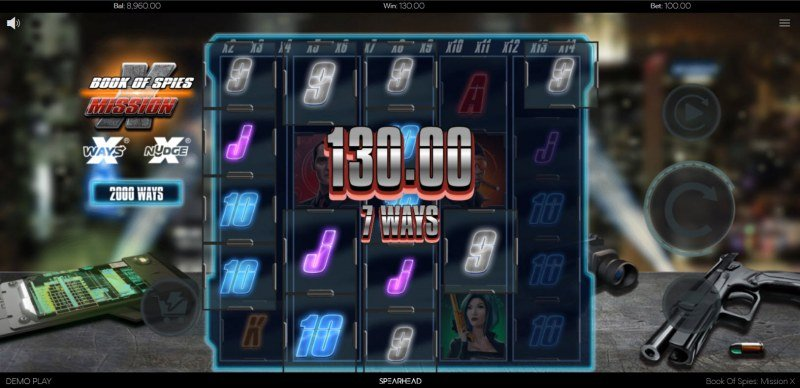 Book of Spies Mission X :: Multiple winning combinations