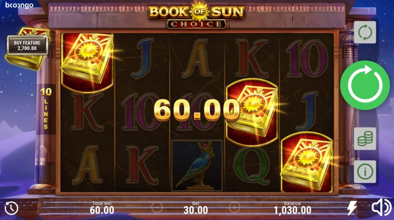 Book of Sun Choice :: Scatter symbols triggers the free spins bonus feature