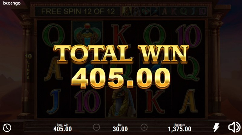 Book of Sun Choice :: Total Free Spins Payout