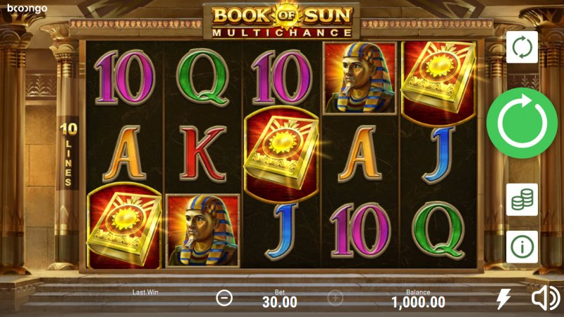 Book of Sun Multi Chance :: Main Game Board