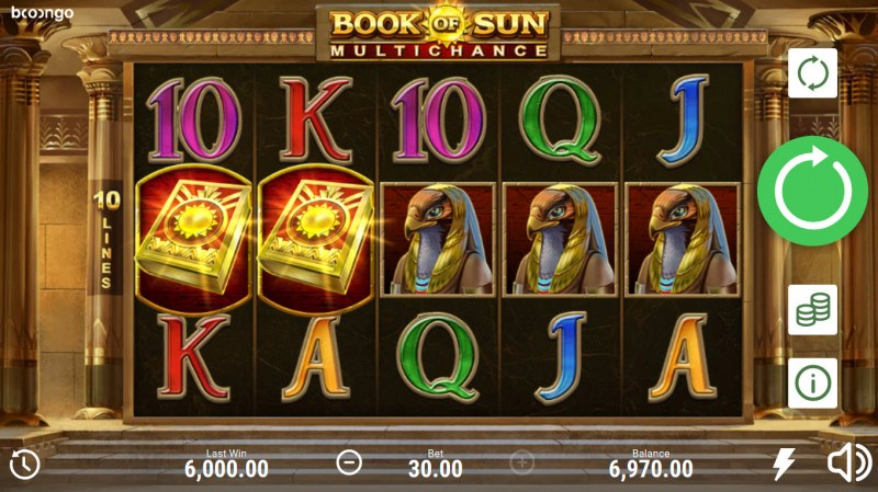 Book of Sun Multi Chance :: A five of a kind win