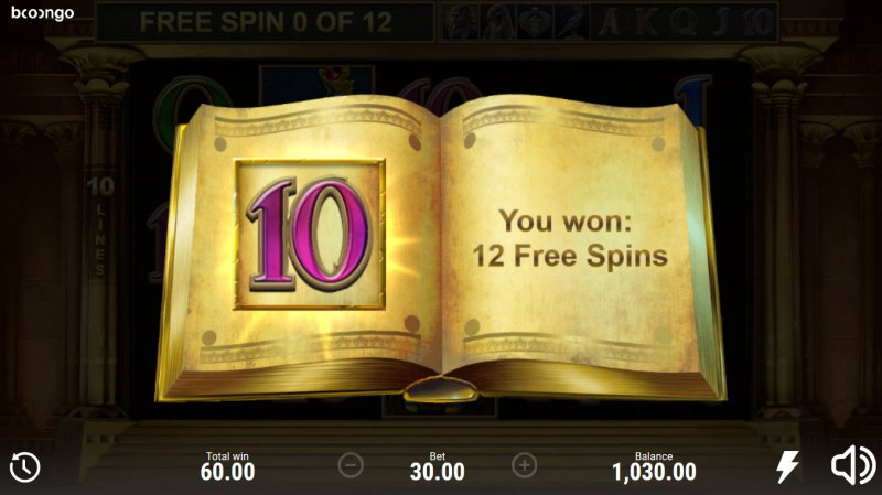 Book of Sun Multi Chance :: 12 free spins awarded