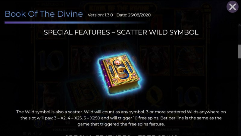 Book of the Divine :: Wild and Scatter Rules