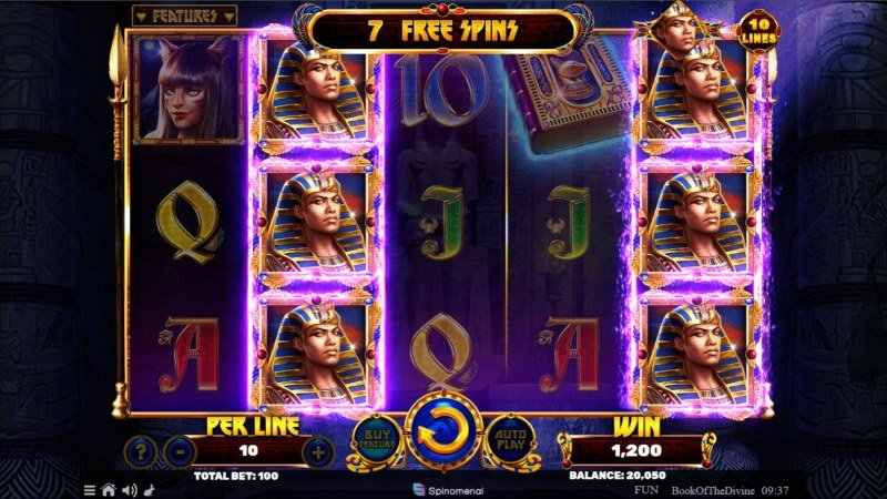 Book of the Divine :: Free Spins Game Board