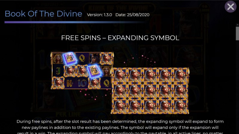 Book of the Divine :: Free Spin Feature Rules