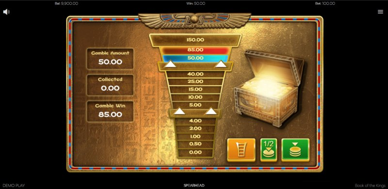 Book of the Kings :: Ladder gamble feature